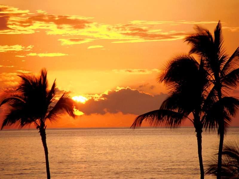 tramonto arancio